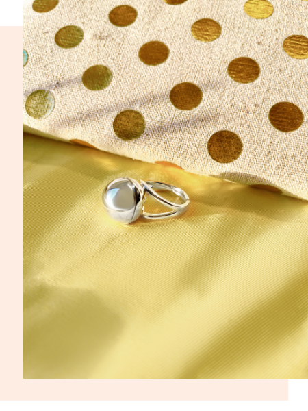 Shown here: Fortune & Frame Sphere Secret Ring, a thoughtful gift for a female best friend.