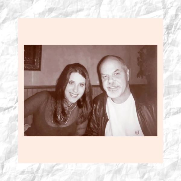 Melanie Gilmer and her father in our Why I Wear series.