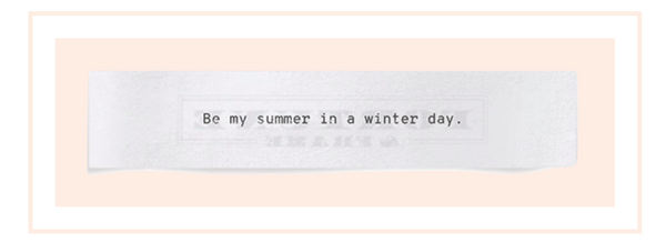 Shown here: Be my summer in a winter day meaningful lyrics.