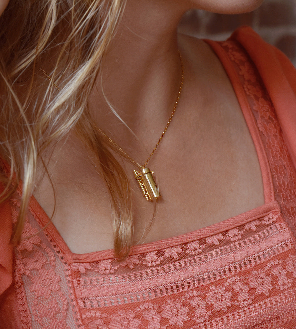 Shown here: Our Capsule + Wand Locket, the perfect meaningful gift for her