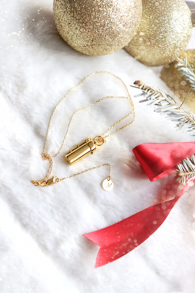Shown here: Our Capsule + Wand Locket, a thoughtful Christmas gift to add a message inside.