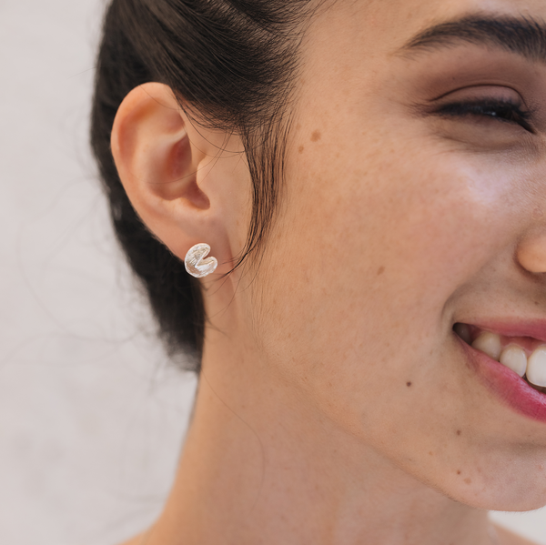 Shown here: Our Fortune Cookie Earrings, the perfect gift for a long-distance relationship