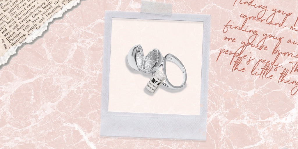 Our silver secret ring is both a cocktail ring and a message-holding keepsake, making it a perfect gift for your sister who needs to hear nice things.