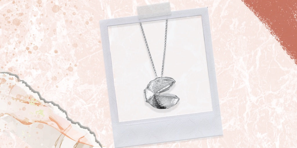 Shown here: A silver fortune cookie locket for the sister who's playful and likes to laugh.