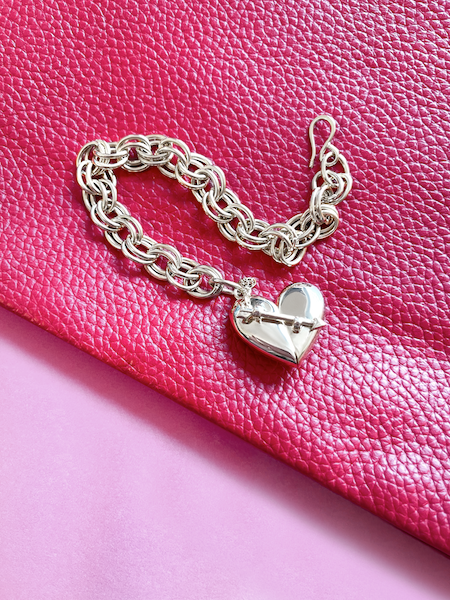 Shown here: Our Heart + Arrow Bracelet, a thoughtful Valentine's Day gift idea for her.