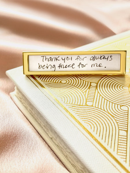 Shown here: A Fortune Frame gift for someone who has a words of affirmation love language.