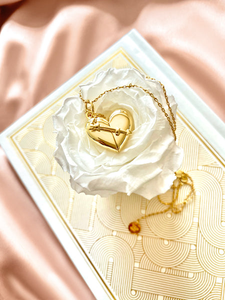 Shown here: Our Heart + Arrow Necklace for someone who has a physical touch love language.