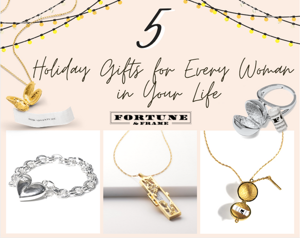 Shown here: Unique gifts for women to give this holiday season.