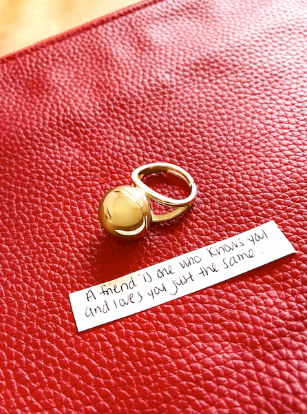 Shown here: Our Sphere Secret Ring, a thoughtful Valentine's Day gift idea for her.