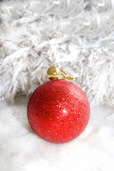 Shown here: Our Sphere Secret Ring, a thoughtful Christmas gift to add a message inside