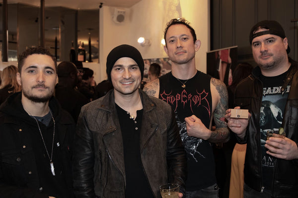 The guys from Trivium in Fortune & Frame fortune cookies and fortune lockets