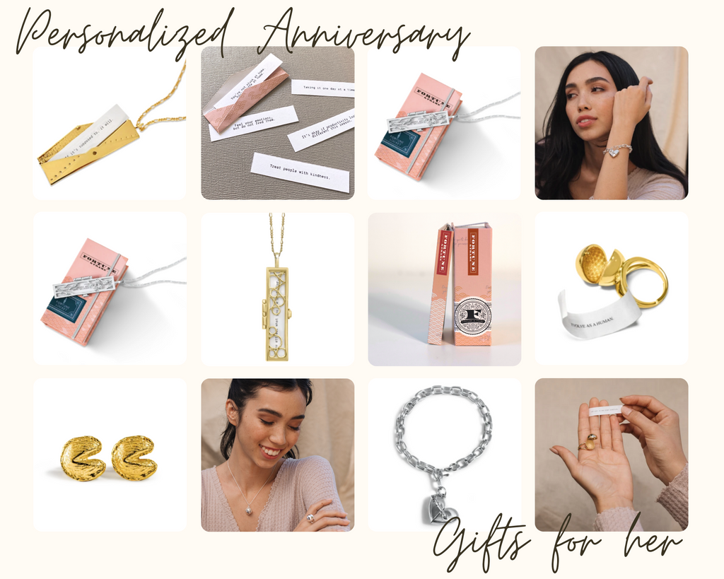 Shown Here: A sampling of unique anniversary gifts for her