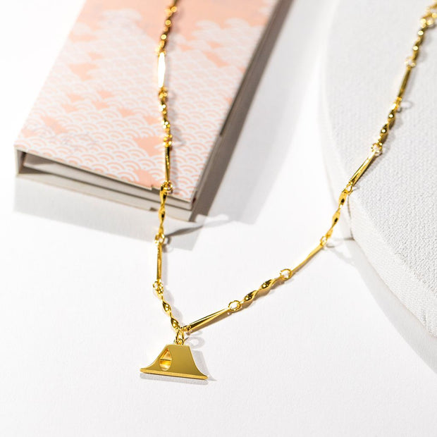 Letter Necklace (A) // Gold-Dipped