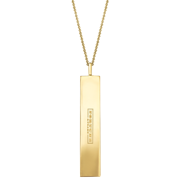 "Fortune Pendants: ""Make sure to do what you love..."" // 14K Gold-Dipped Silver"