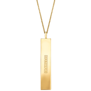 "Fortune Pendants: ""Dare BIG. Fear small."" // 14K Gold-Plated Silver"