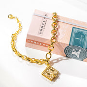 Book Bracelet (Pearl) // Gold-Dipped