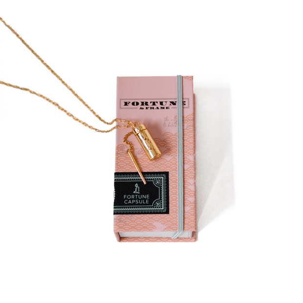 Capsule + Wand Locket // 14K Gold-Plated Silver