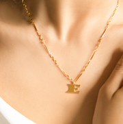 Letter Necklace (E) // Gold-Dipped