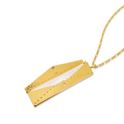 Envelope Fortune Locket // Gold-Dipped