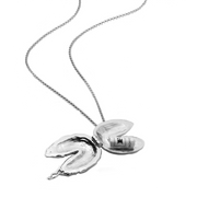 Fortune Cookie Locket (Large) // Sterling Silver