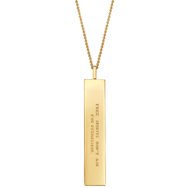 "Fortune Pendants: ""Free spirits don't ask for permission"" // 14K Gold-Dipped Silver"