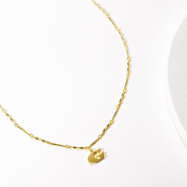 Letter Necklace (G) // Gold-Dipped