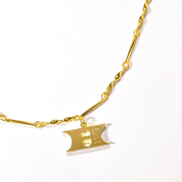 Letter Necklace (H) // Gold-Dipped