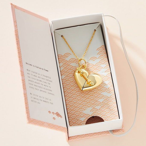 Heart + Arrow Locket // 14K Gold-Dipped Silver