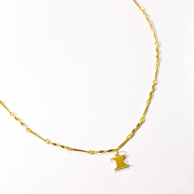 Letter Necklace (I) // Gold-Dipped