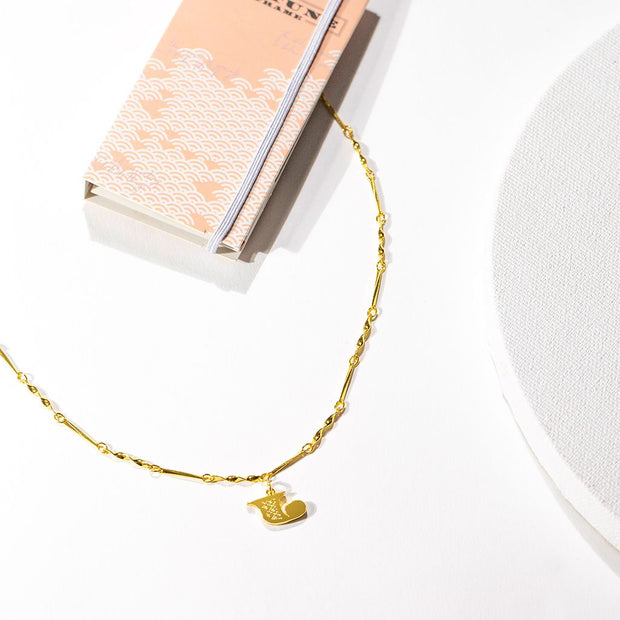 Letter Necklace (J) // Gold-Dipped