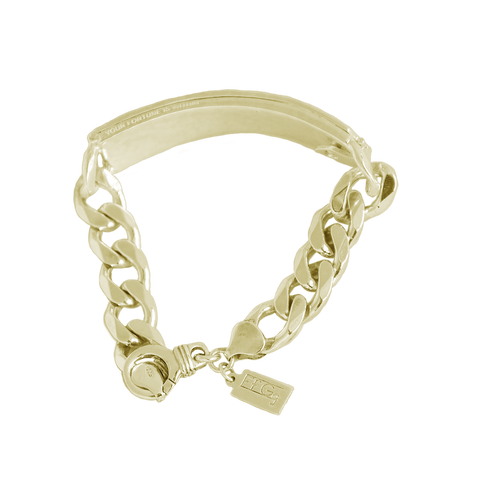 Jagged Fortune ID Bracelet // Gold