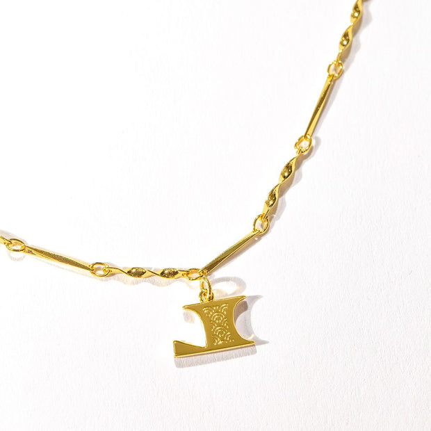 Letter Necklace (L) // Gold-Dipped