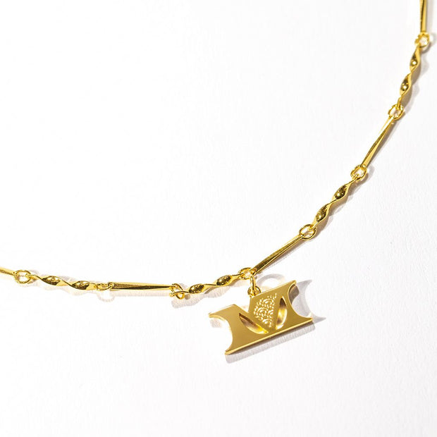 Letter Necklace (M) // Gold-Dipped