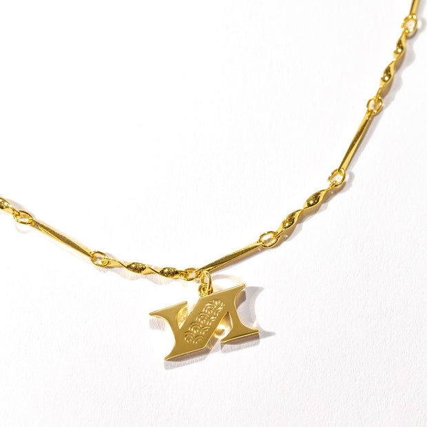Letter Necklace (N) // Gold-Dipped