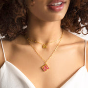 Letter Necklace (R) // Gold-Dipped