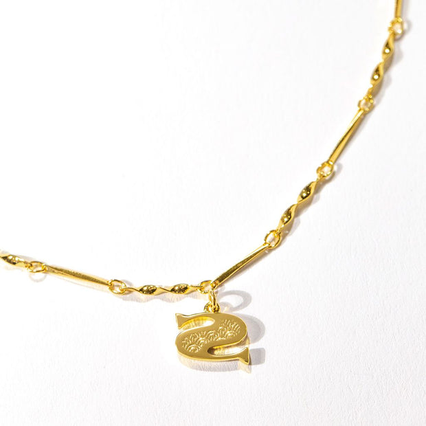 Letter Necklace (S) // Gold-Dipped