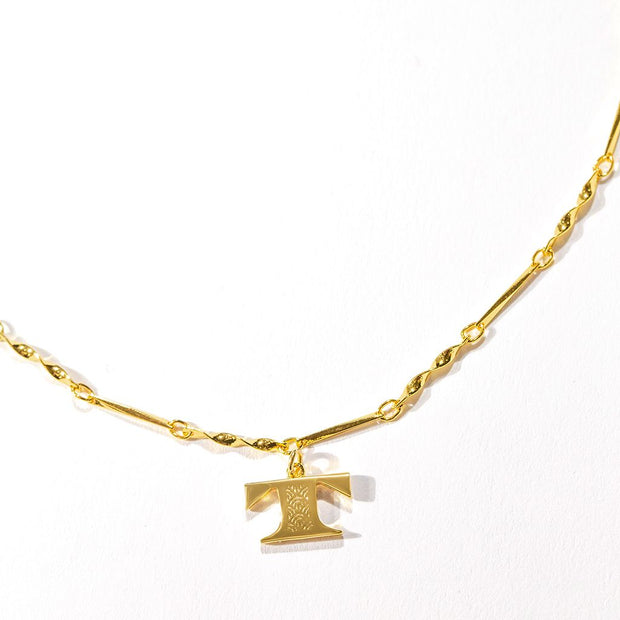 Letter Necklace (T) // Gold-Dipped