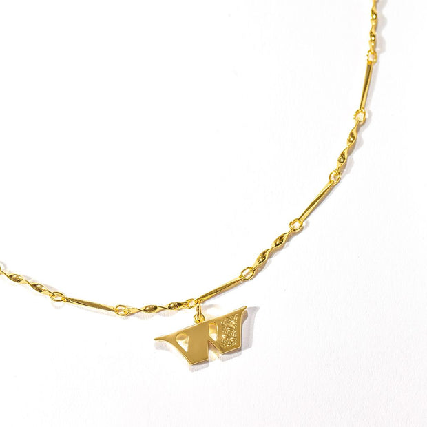 Letter Necklace (W) // Gold-Dipped