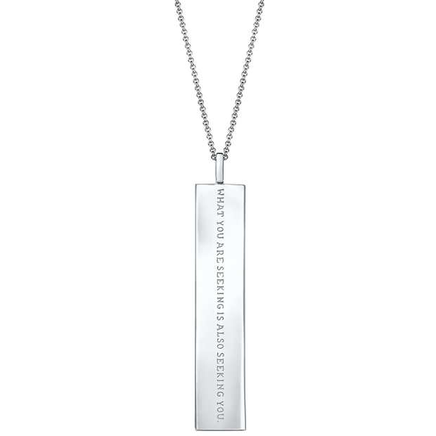 "Fortune Pendants: ""What you are seeking is also seeking you"" // Sterling Silver"