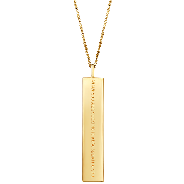 "Fortune Pendants: ""What you are seeking is also seeking you"" // 14K Gold-Dipped Silver"