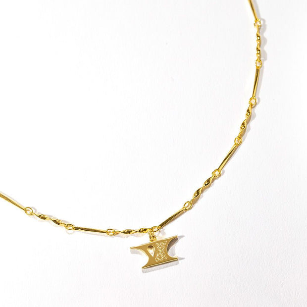 Letter Necklace (Y) // Gold-Dipped