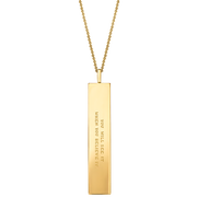 "Fortune Pendants: ""You will see it when you believe it"" // 14K Gold-Dipped Silver"