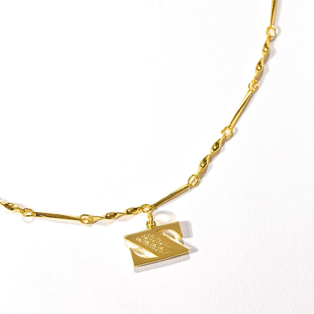 Letter Necklace (Z) // Gold-Dipped