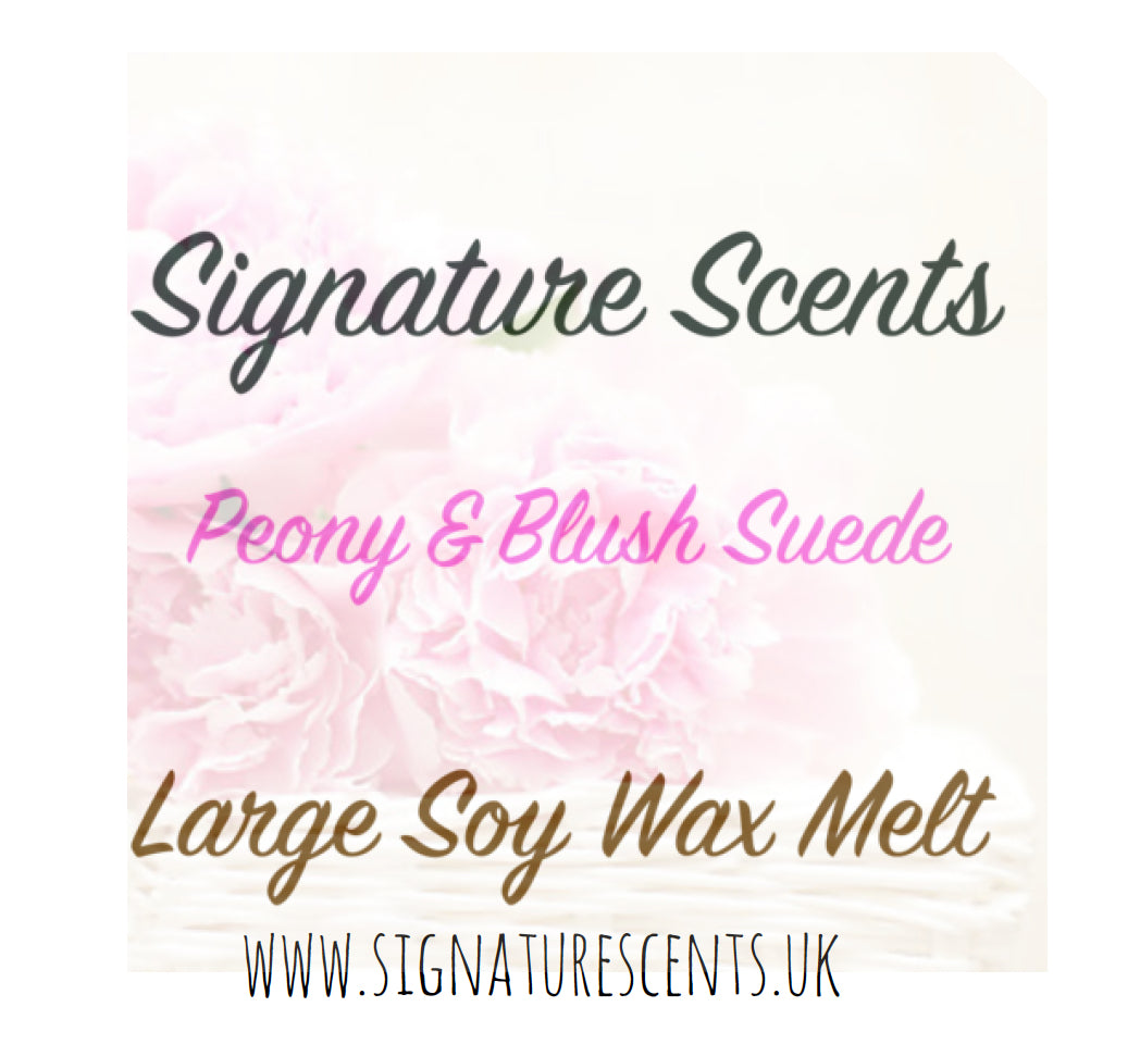 Peony & Blush Suede Soy Wax Melt Pod - SignatureScents UK