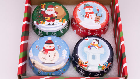 Christmas Candles Hand Poured Home Made Gift Box - SignatureScents UK