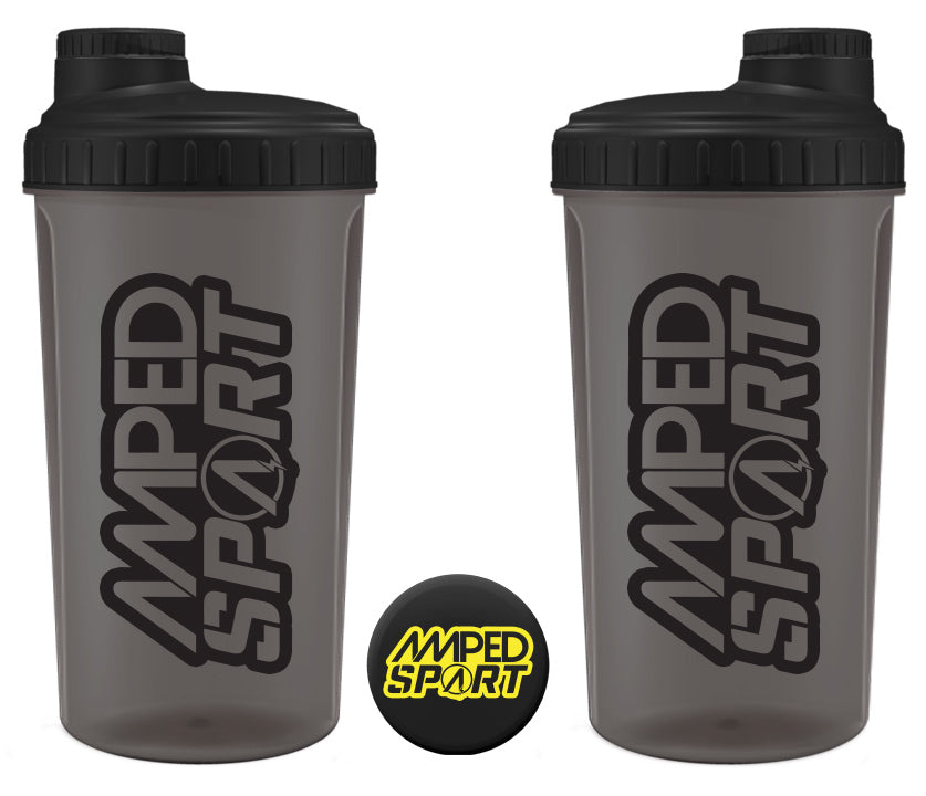 Amped Sport Black on Black Shaker 700ml