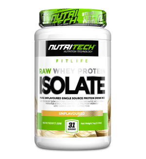 Nutritech RAW Whey Protein Isolate 1kg