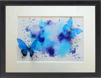 Blue 3d butterfly picture