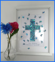 Crucifix personalized framed picture