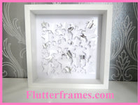 white and silver Stars 3d framed picture